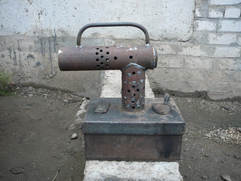 печь на дровах и отработке