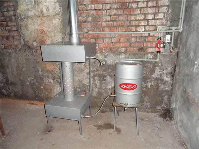 печка с водяным контуром