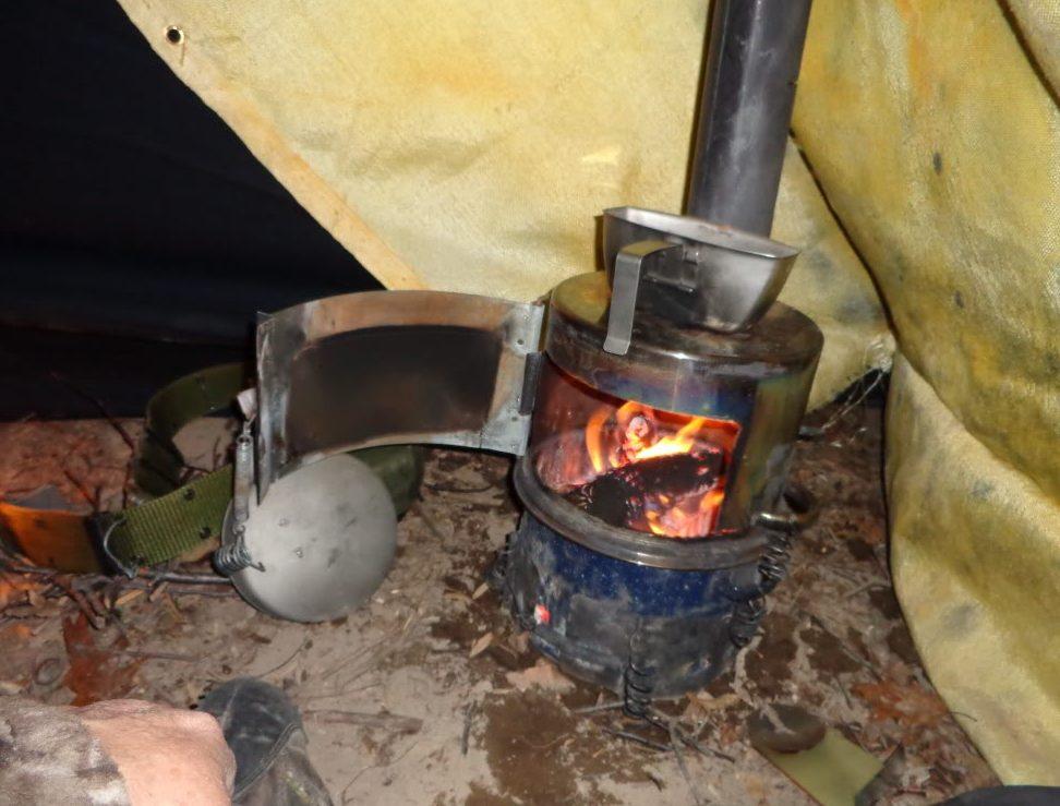Самодельная печь для палатки длительного горения 805