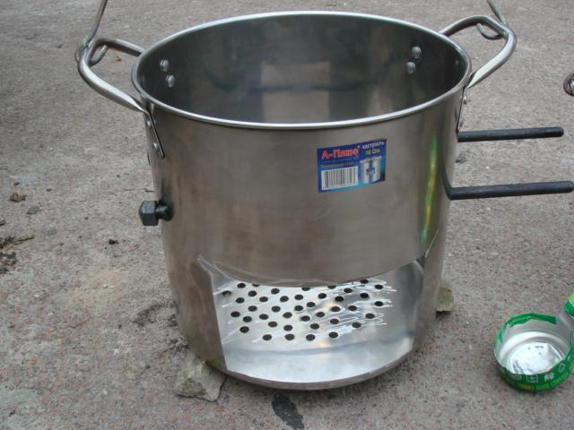 Походная печь из кастрюли