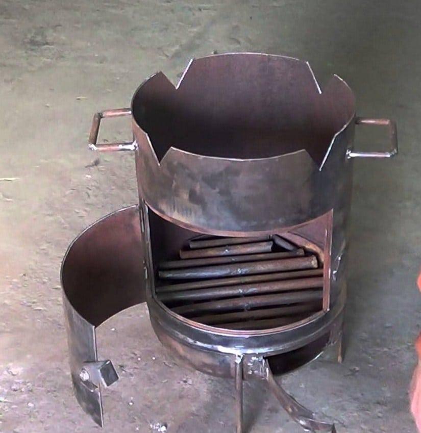Печь для казана своими руками из газового фото 64