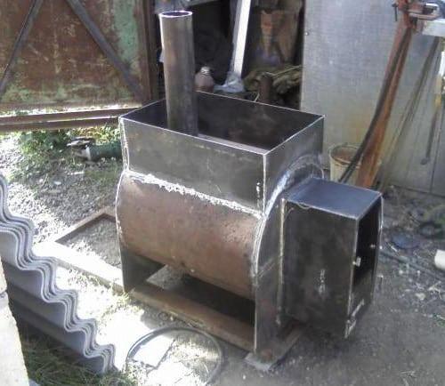Печка для бани из металла своими руками фото