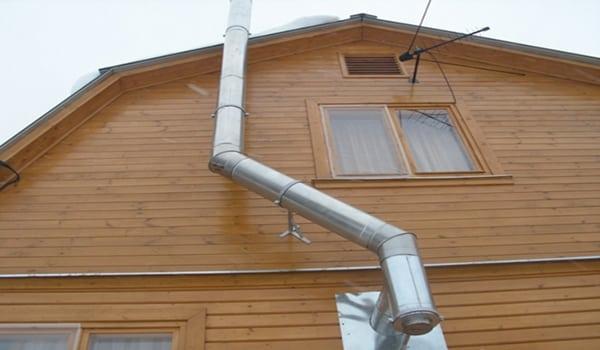 Дымоход в деревянном доме
