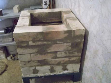 Электропечь для обжига сбор стенок
