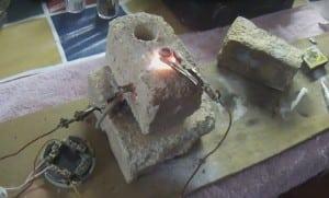 Электропечь в кирпиче