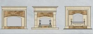 Классические варианты мраморных порталов