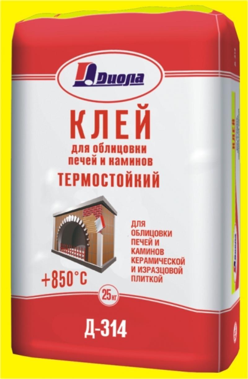 Клей для облицовки печей и каминов термостойкий