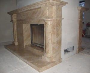 Монтаж мраморного камина