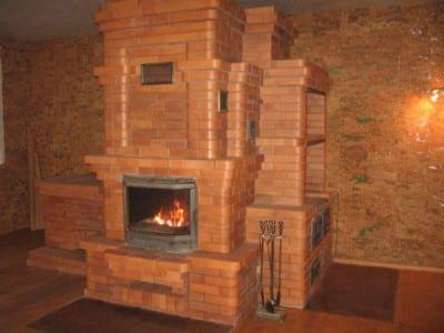 Печь-камин на даче