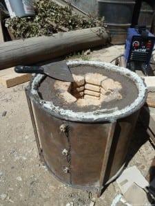 Печь на дровах для обжига