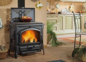 дровяная печь для дома чугунная nordica