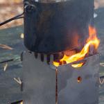 печь щепочница