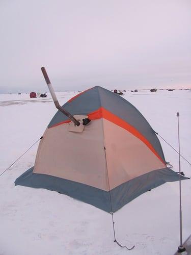 печь в палатке