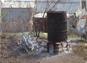 Печь для сжигания мусора на даче своими руками из бочки фото 202