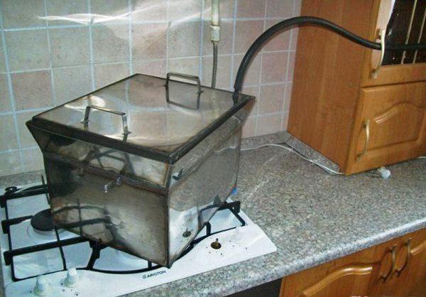 коптильня для плиты