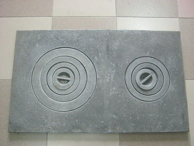 Чугунная плита для печи