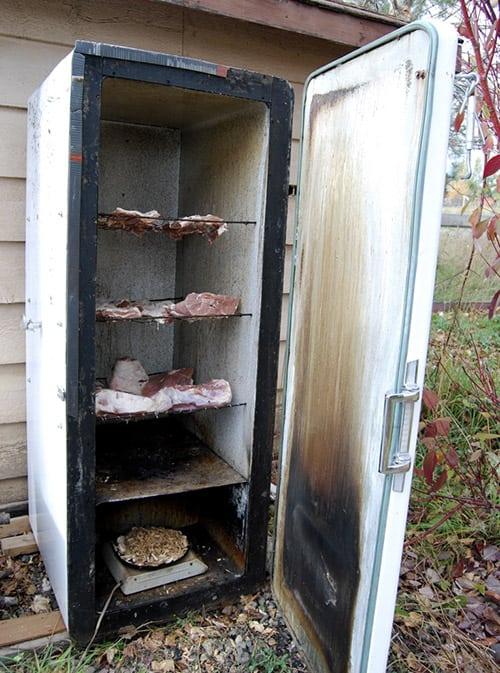 Электрокоптильня из холодильника