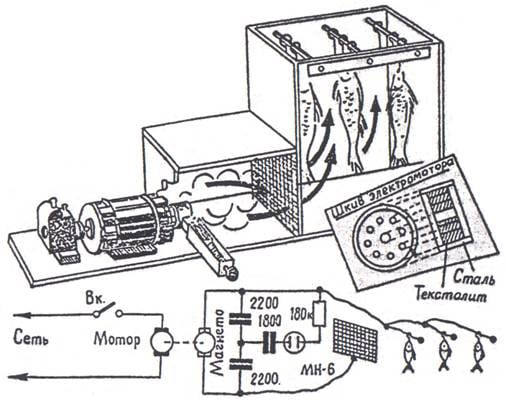 Электростатическая коптильня схема