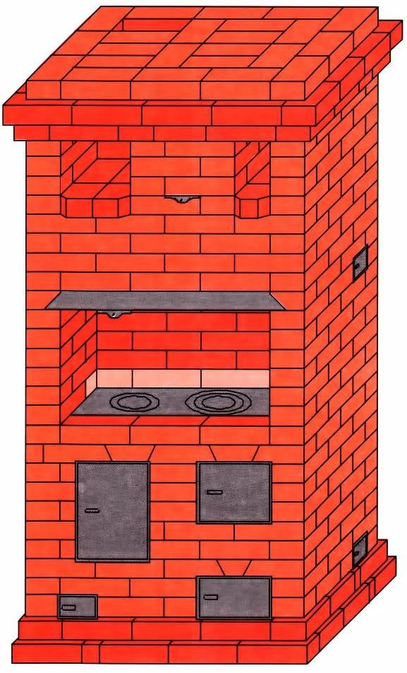 Печь - шведка - для дома и дачи: порядовка своими руками