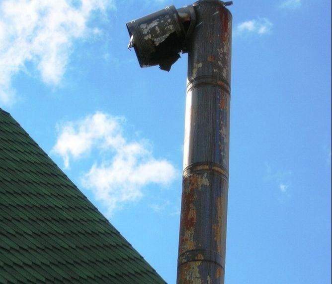 Конденсат в дымоходе из чёрной стали