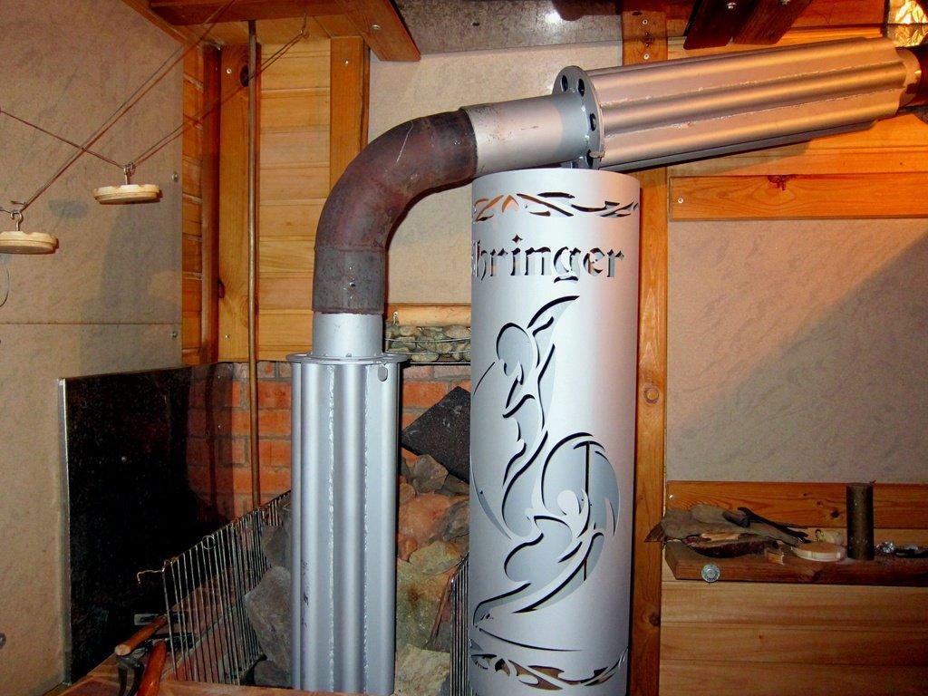 Конвекторный дымоход в сборе