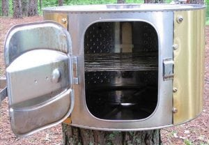 Коптильня из стиральной машинки