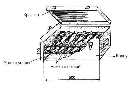 Коптильня на мангал из металла