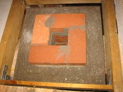 Короб кирпичного дымохода с изоляцией