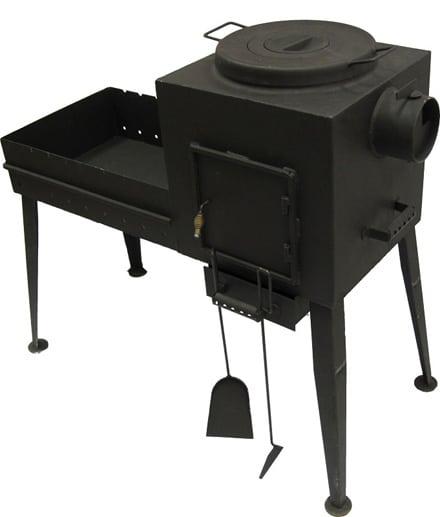 Печка мангал из металла своими руками