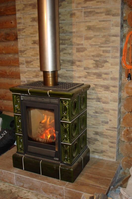 Пожарная изоляция печи в деревянном доме