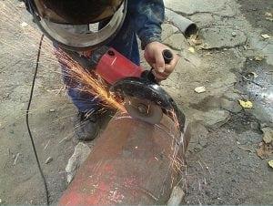 Работа с газовым баллоном