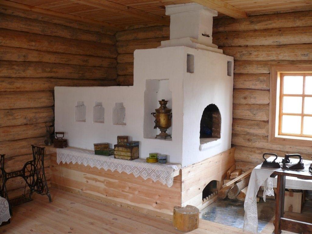 Русская печь в интерьере