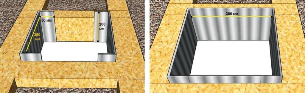 Схема прохода через потолок