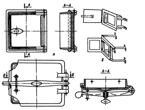 Схемы установки печной дверцы
