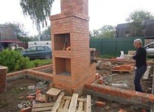 Строительство печи вместе с домом