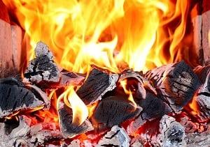Температура печного огня