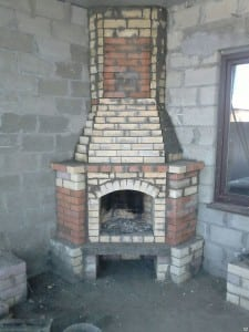 Угловая печь-камин