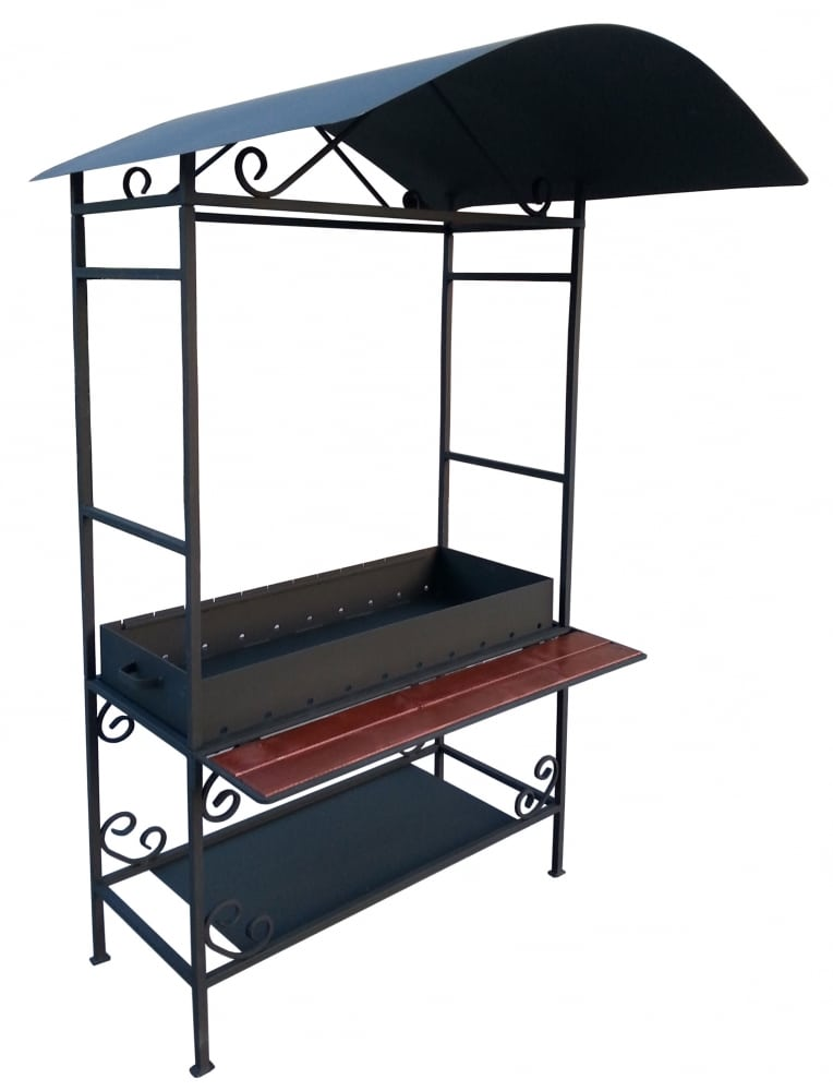 Вариант мангала с крышей