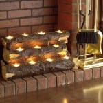 декорирование камина свечами