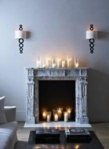 свечи на камине