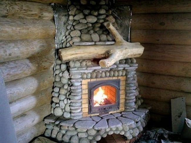 Печь из камня для бани из