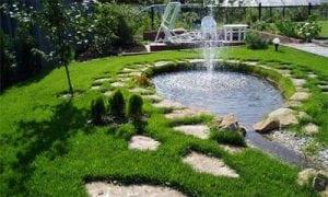 Фонтан на солнечных батареях для садовых прудов