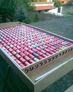 Использование банок для солнечного коллектора