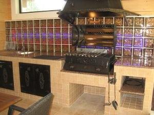 Комплекс барбекю в помещении