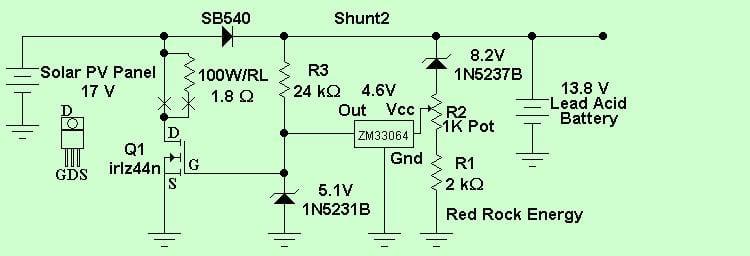 Контроллер для солнечной батареи своими руками схема