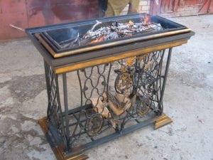 Мангал из швейной машинки Зингер