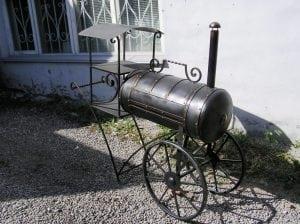 Мини вариант мангала-паровоза