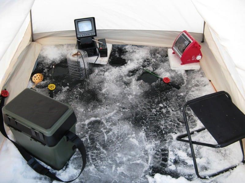 Обогреватель в зимнюю палатку для рыбалки своими руками