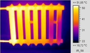 Определение температуры батарей отопления в квартире