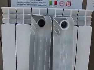 Отдельные секции алюминиевых радиаторов отопления.